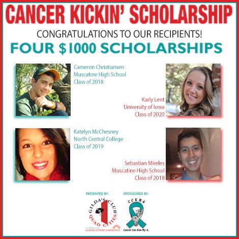 2017 Cancer Kickin' Scholarship Winners