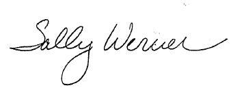 Sally Werner signature