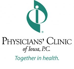 Physician's Clinic of Iowa, P.C. logo with Together in health tagline.